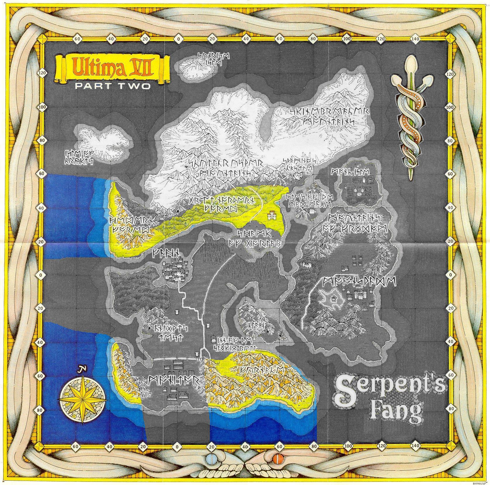Karte der Schlangeninsel
