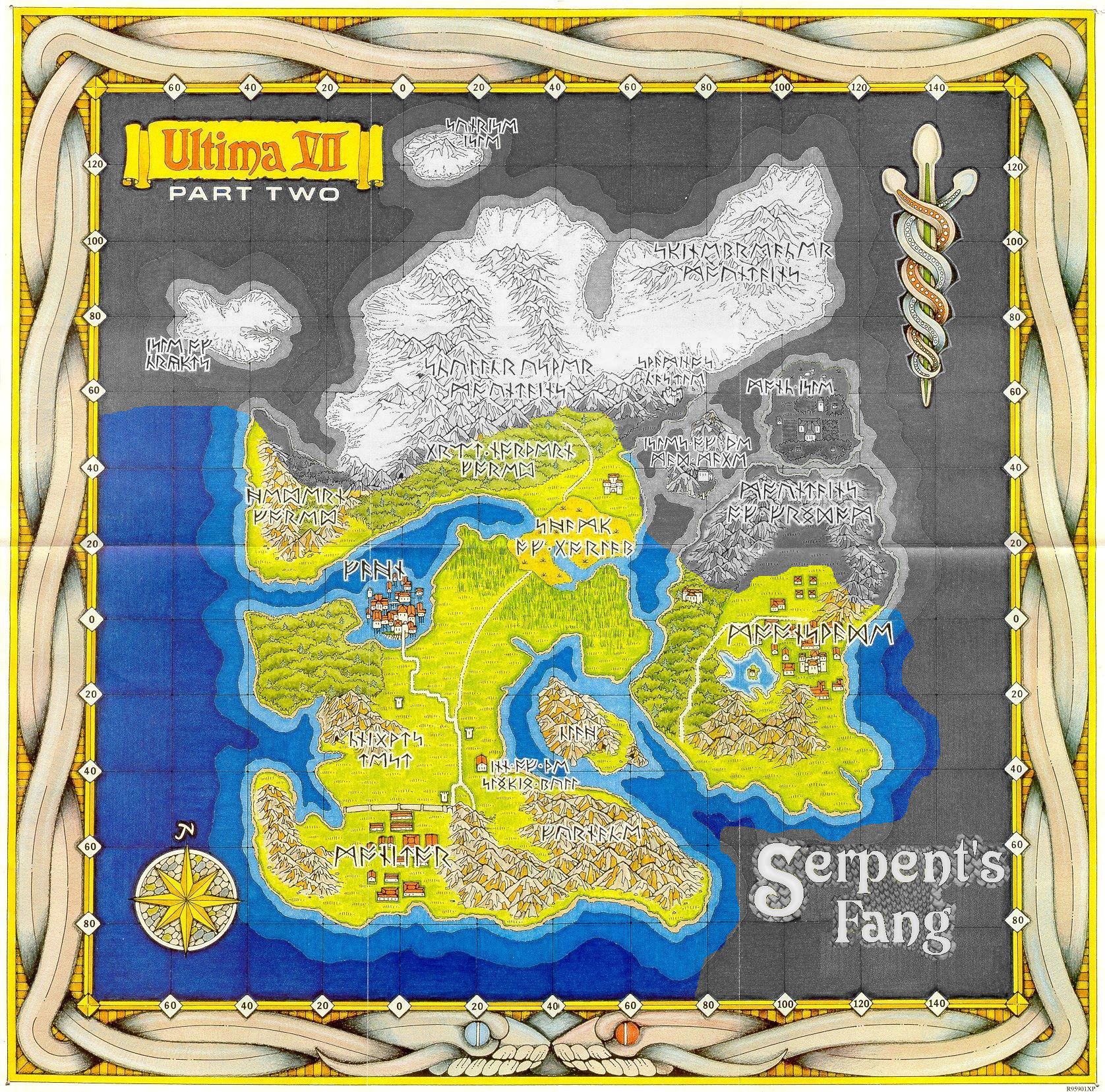 Map of Serpent Isle